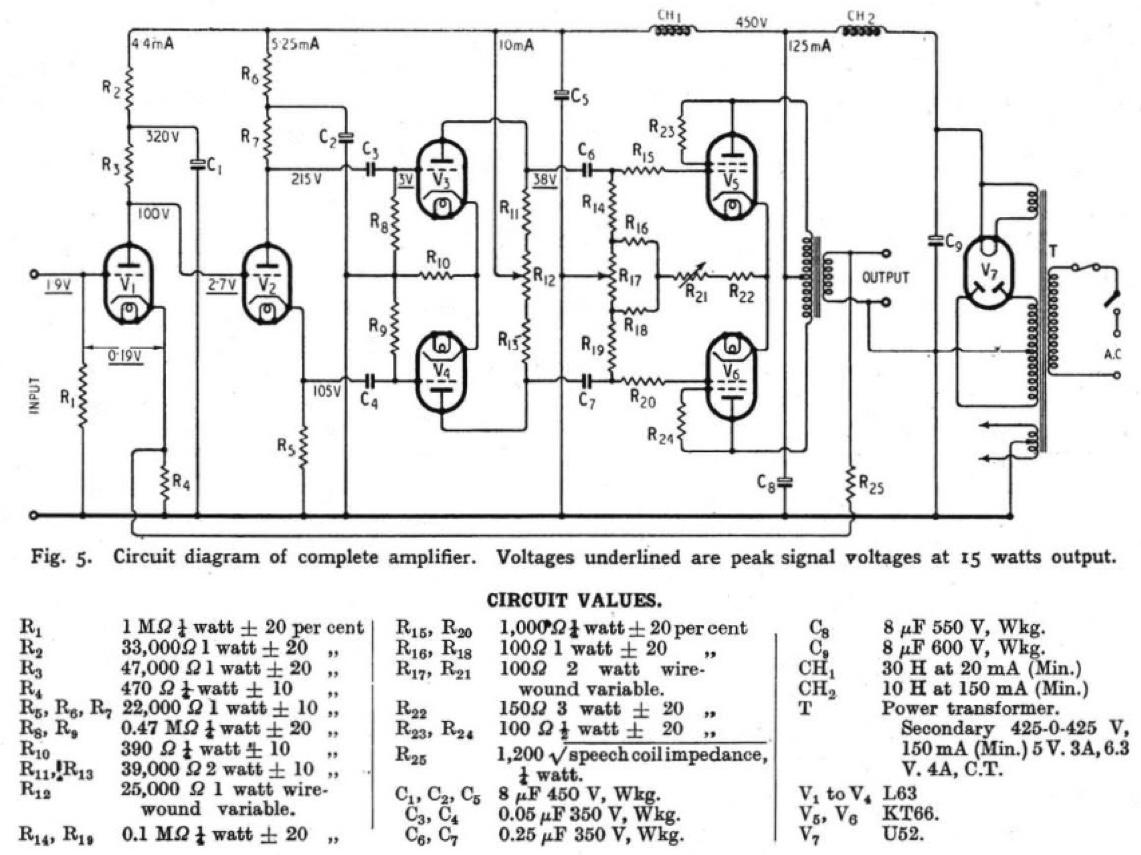 Marantz 8B, Original Williamson amp, & Troubleshooting ... on marantz 8b amplifier, fisher x 1000 schematic, mcintosh mc275 schematic, marantz 8b power supply,